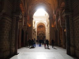 Mix of Muslim and Christian architecture, Rachel - January 2014