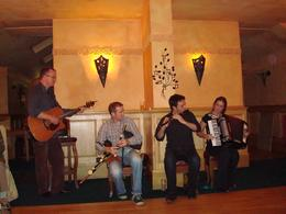 In true Irish tradition: Guitar, Uilleann Pipes, Flute and Accordian, cab0118 - November 2010