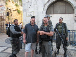 Leaving the temple mount ! Thanks to the IDF for our escort out ! , Philip S - August 2016