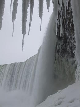 Taken from a window under the falls. , JAMES M - January 2014