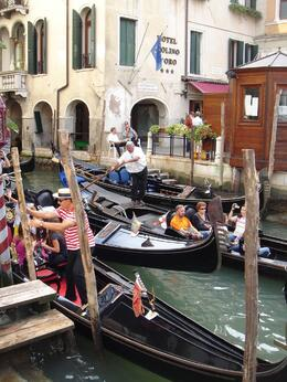 The closest thing to a traffic jam in Venice - September 2009