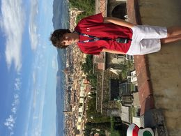 Could figure out how to rotate picture sorry! this one of the incredible views that Fabian took us to on Vespa tour. , Elana V - October 2015