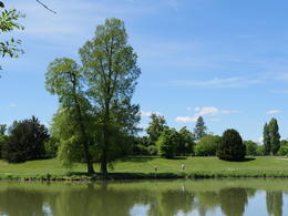 The lake in the Queen's Hamlet, note the people for an idea of the scale , Jay S - June 2017