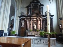 Church of Our Lady, Bruges. with Madonna and Child by Michelangelo, 1505 , Paul S - July 2017