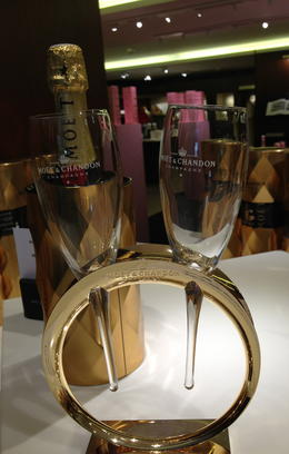 Unique champagne flutes at the gift shop. , Tiina H - June 2013
