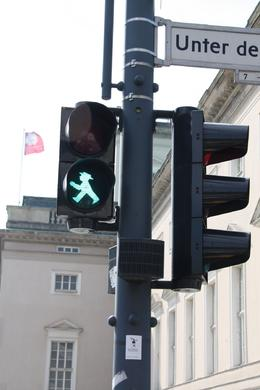 The East German crossing lights introduced apelman, now a German hero., Stephanie G - April 2010