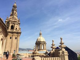 Views of Barcelona from MNAC terraces, SCV - April 2015