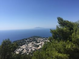 Capri Island Anacapri view from the chairlift up to the top of the Mount Solaro , Paul A - August 2016
