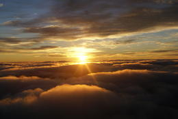 Surfing over the clouds after sunrise , Gerardo Z - January 2012