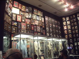 Room full of gold records and show costumes , Tracey C - November 2012