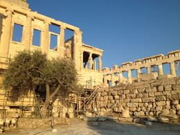 Temple dedicated to Poseidon and Athena, across from the Parthenon, Leah - August 2013