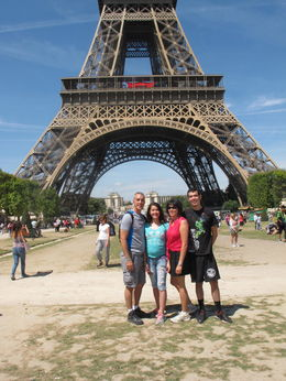 At the Eiffel Tower, Troy Z - August 2015