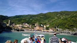 Walkabout Tours Cinque Terre tour. On the Boat ride down the coast, we could see all of the 5 cities we visited. , AnnMarie D - May 2014