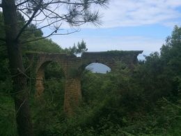 This was near the end of our hike about 5km in. Our guide said this aqueduct used to carry water into the city as San Sebastian itself had no usable water sources. , Rebecca H - June 2015