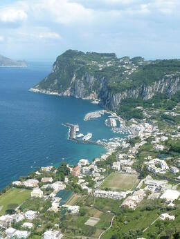 View from the city of Capri , Maria C - May 2011