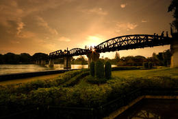 Historic River Kwai Bridge, Thailand - June 2011