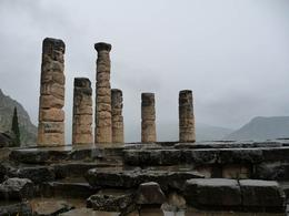 Temple of Apollo at Delphi- not much left to see, but interesting history. The Navel rock, which supposedly marks the centre of Earth is also here at the site., Susan Zee Yeeh L - May 2010