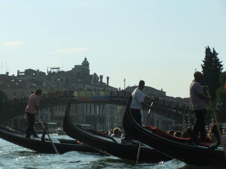 The gondeliers - Venice