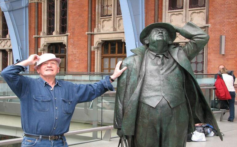 Tony Howe with John Betjeman -