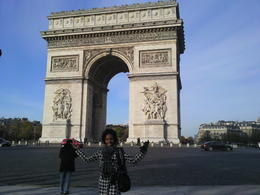 The Arc de Triomphe... I have arrived in the City of Lights and Love.... , Briana S - January 2011