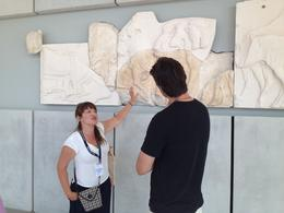 Mariza tells us about the ancient frieze from the Parthenon, now hanging in the museum in both original and cast forms - September 2013