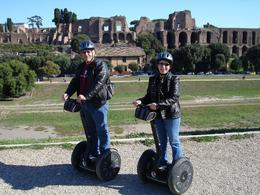 Dennis and Celia are having a blast on their Segway Tour of Rome while on their 30th wedding anniversary trip to Italy! - November 2009