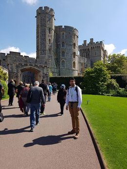 At the Windsor Castle entrance. , Jamal K - May 2016