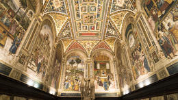 The amazing frescos in Siena cathedral. , Brian C - April 2017
