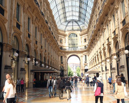 The Galleria Vittorio Emanuele shopping area. , Paul B - July 2017