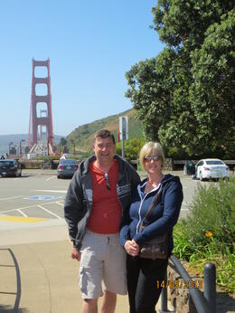 One of our stops was at the Golden Gate bride , Andrew B - May 2013