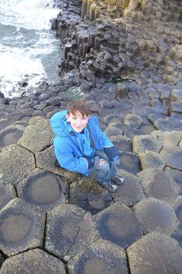 My son at Giant's Causeway , Susan B - January 2014