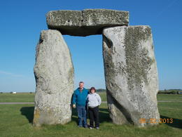 My wife and I between some Sarsen Stones , David C - June 2013