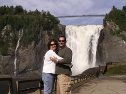 Us at Montmorency Falls. What can I say - not Niagara but beautiful!, Edward C - September 2008