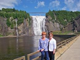 Photo moment in front of Montmorency Falls., DONNA H - July 2010
