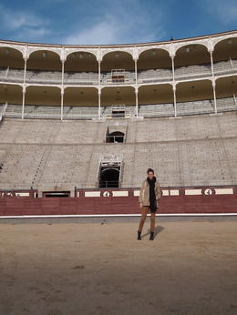 Me in the bullring, Rachel - December 2013