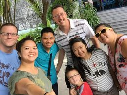 Photo opportunity with our tour guide in the blue shirt at the War Remnants Museum. If they are good, always take a moment to include your tour guide and tip them generously. , Trang N - January 2016