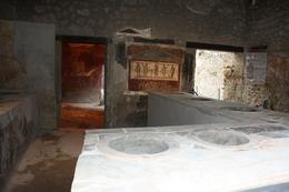 This would be a typical Pompeiian home/kitchen. The guide said that about 12-15 people lived in the home we toured. - March 2010