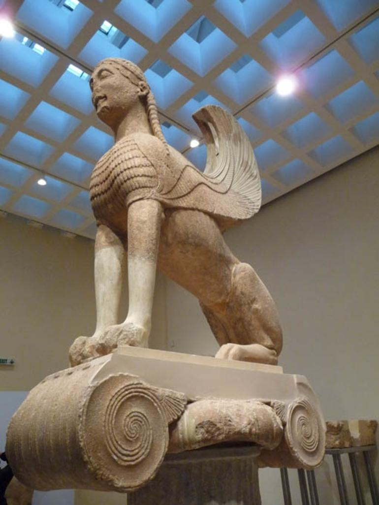 Sphinx at Delphi museum - Athens