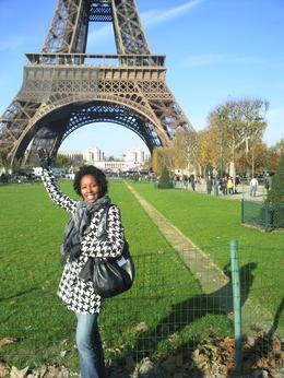 Me and the Eiffel Tower... what a beautiful day... , Briana S - January 2011