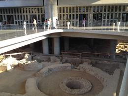 The Acropolis Museum built on top of ancient ruins - September 2013