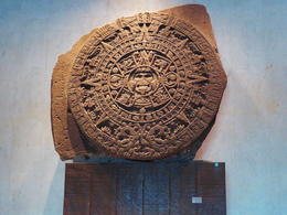 Aztec calendar at the anthropology museum , Gerald H S - January 2017