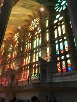 Gaudi designed west windows to catch and highlight the afternoon Sun. , Barry U - July 2017