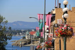 Photo of the Victoria Harbor with dozens of cafes and shops. , Margaret F - September 2014