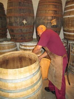 Barrel making demo at Van Ryn Brandy distillery - February 2010