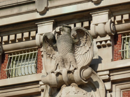 A nifty eagle on the main Ellis Island building, reminds me of the muppet one., kellythepea - October 2010