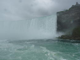 That photo was taken when we were in the maid of the mist. It is a great experience! , Amanda R - June 2013