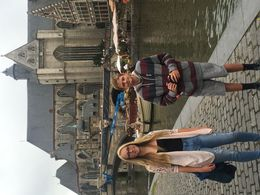 Kids standing next to the canal in Ghent. , Kay W - August 2015
