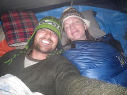 Comfortable in our tent!, Rodrigo E - December 2011