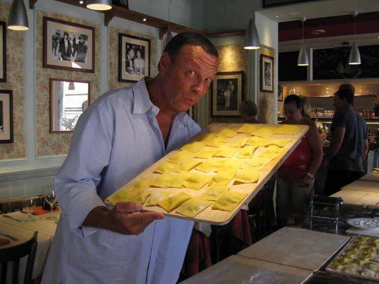 Making ravioli - Rome