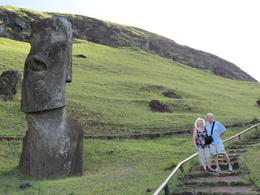 My husband and I touring Easter Island , alison46 - March 2014